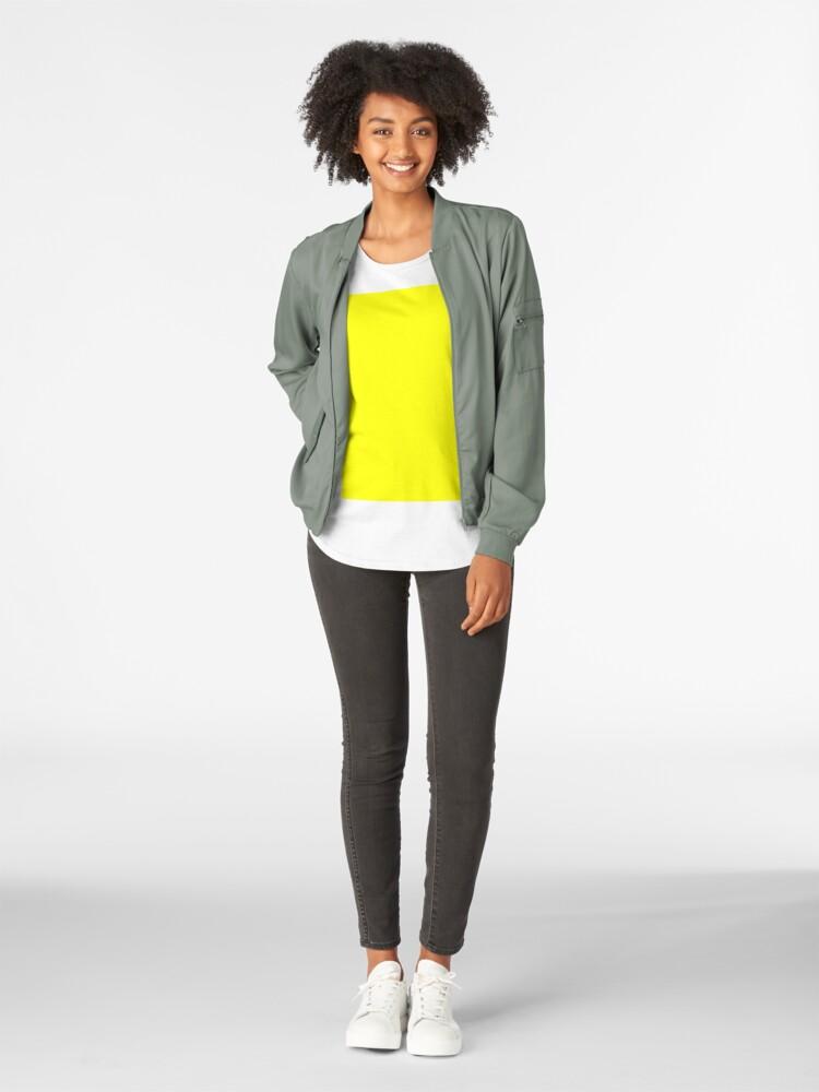 Alternative Ansicht von Helles Gelb Premium Rundhals-Shirt