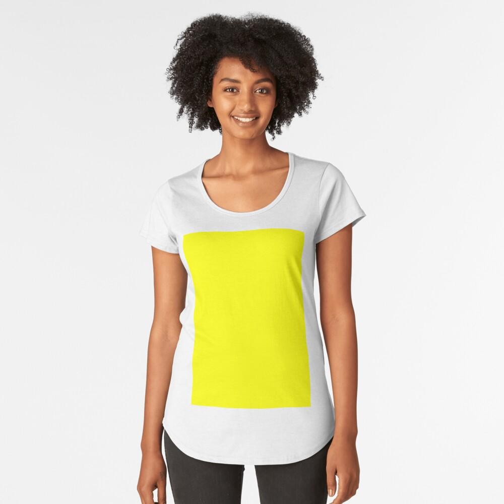 Helles Gelb Premium Rundhals-Shirt