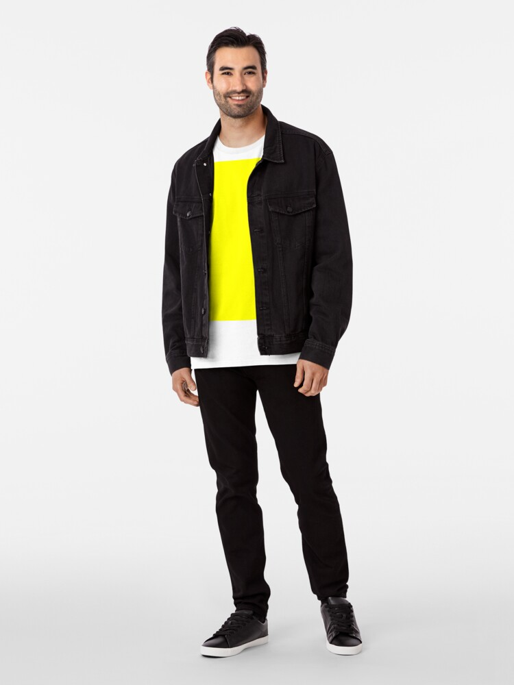 Alternative Ansicht von Helles Gelb Premium T-Shirt