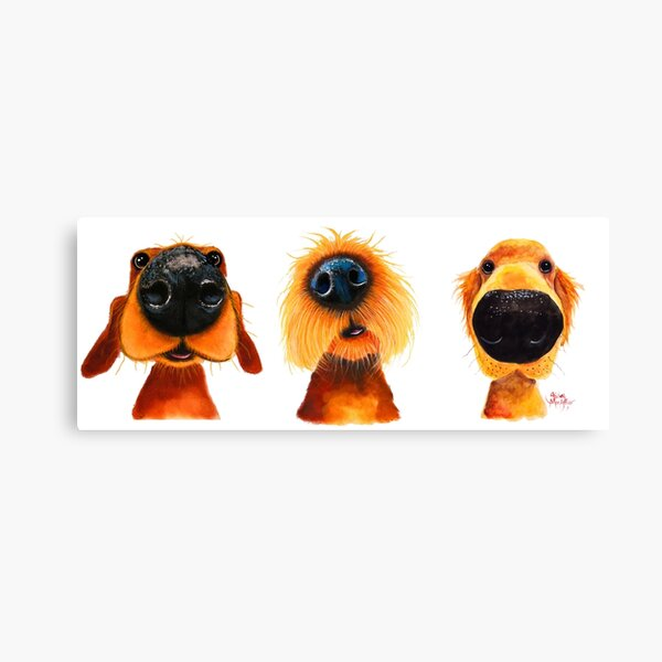 NoSeY DoG PRiNT ' THe PuPPY DoGS ' By Shirley MacArthur Canvas Print