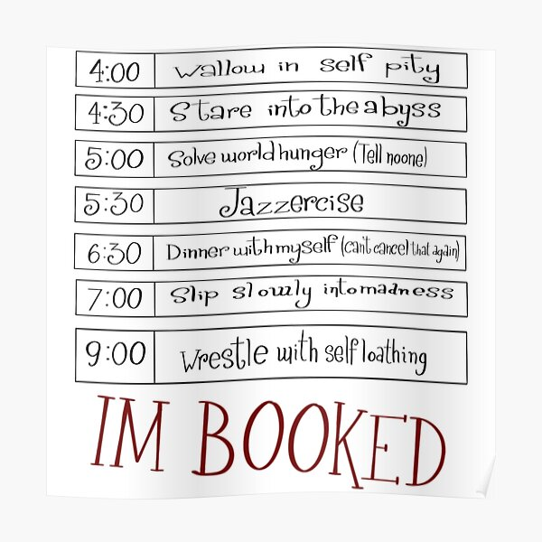 Booked Poster