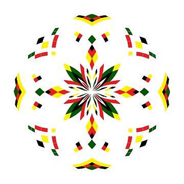 Mandala 17 - Reggae by Cybarxz