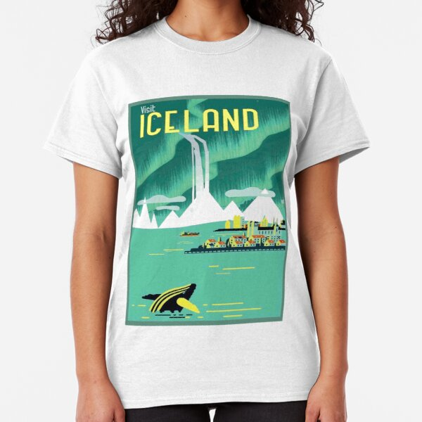 ICELAND : Vintage Travel and Tourism Advertising Print Classic T-Shirt