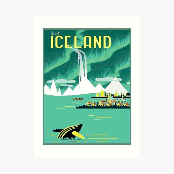 ICELAND : Vintage Travel and Tourism Advertising Print Art Print