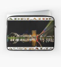 Adelaide Riverbank at Night (poster on white) Laptop Sleeve