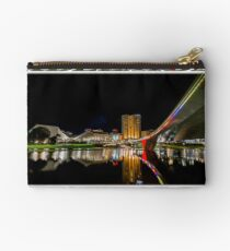 Adelaide Riverbank at Night (poster on white) Studio Pouch