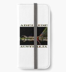 Adelaide Riverbank at Night (poster on white) iPhone Wallet/Case/Skin