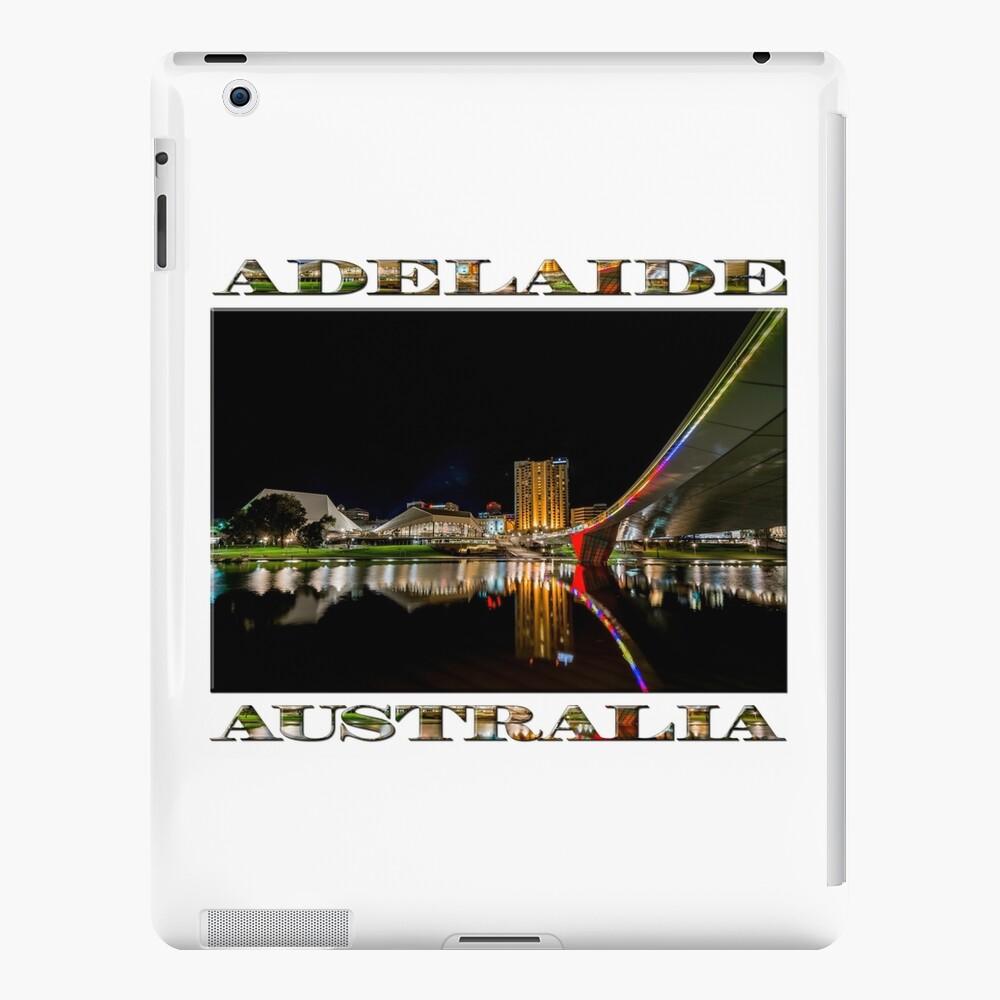 Adelaide Riverbank at Night (poster on white) iPad Case & Skin