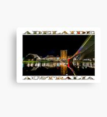 Adelaide Riverbank at Night (poster on white) Canvas Print