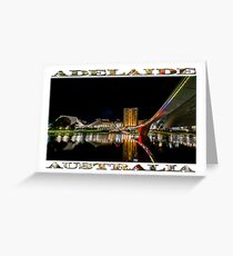 Adelaide Riverbank at Night (poster on white) Greeting Card
