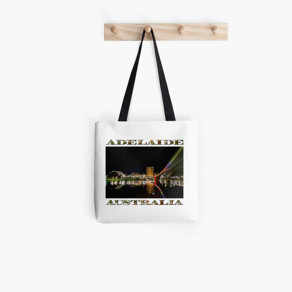 Adelaide Riverbank at Night (poster on white) Tote Bag
