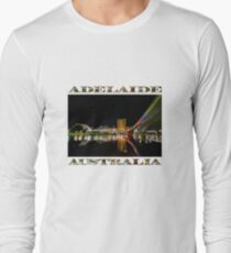 Adelaide Riverbank at Night (poster on white) Long Sleeve T-Shirt