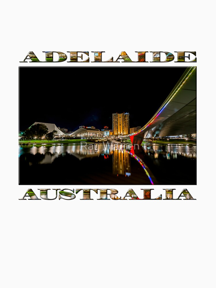 Adelaide Riverbank at Night (poster on white) by RayW