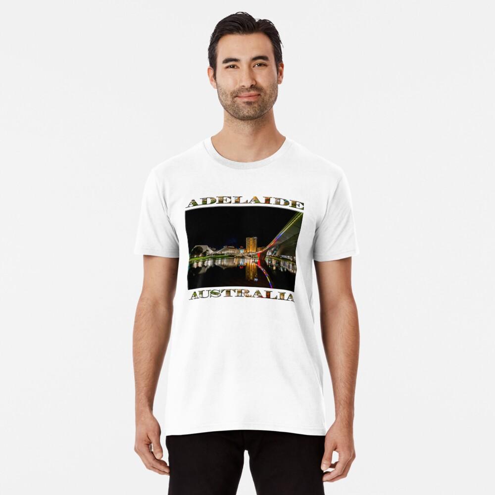 Adelaide Riverbank at Night (poster on white) Premium T-Shirt