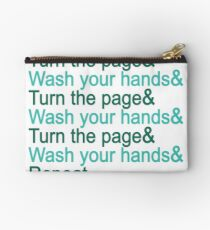 Turn the page & wash your hands Studio Pouch