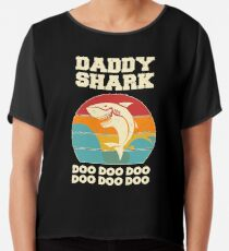 Vati-Haifisch Doo Doo Doo Weinlese-Vatertags-Vati Chiffontop