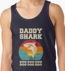 Vati-Haifisch Doo Doo Doo Weinlese-Vatertags-Vati Tank Top