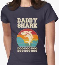 Vati-Haifisch Doo Doo Doo Weinlese-Vatertags-Vati Tailliertes T-Shirt