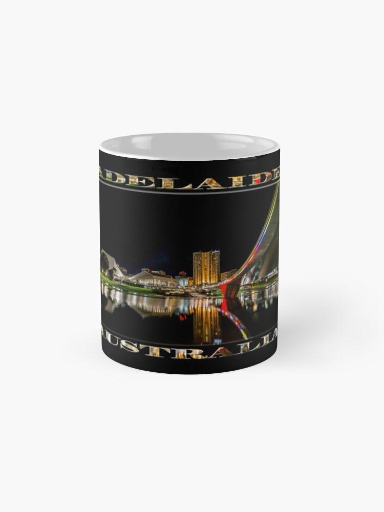 Alternate view of Adelaide Riverbank at Night (poster on black) Mug