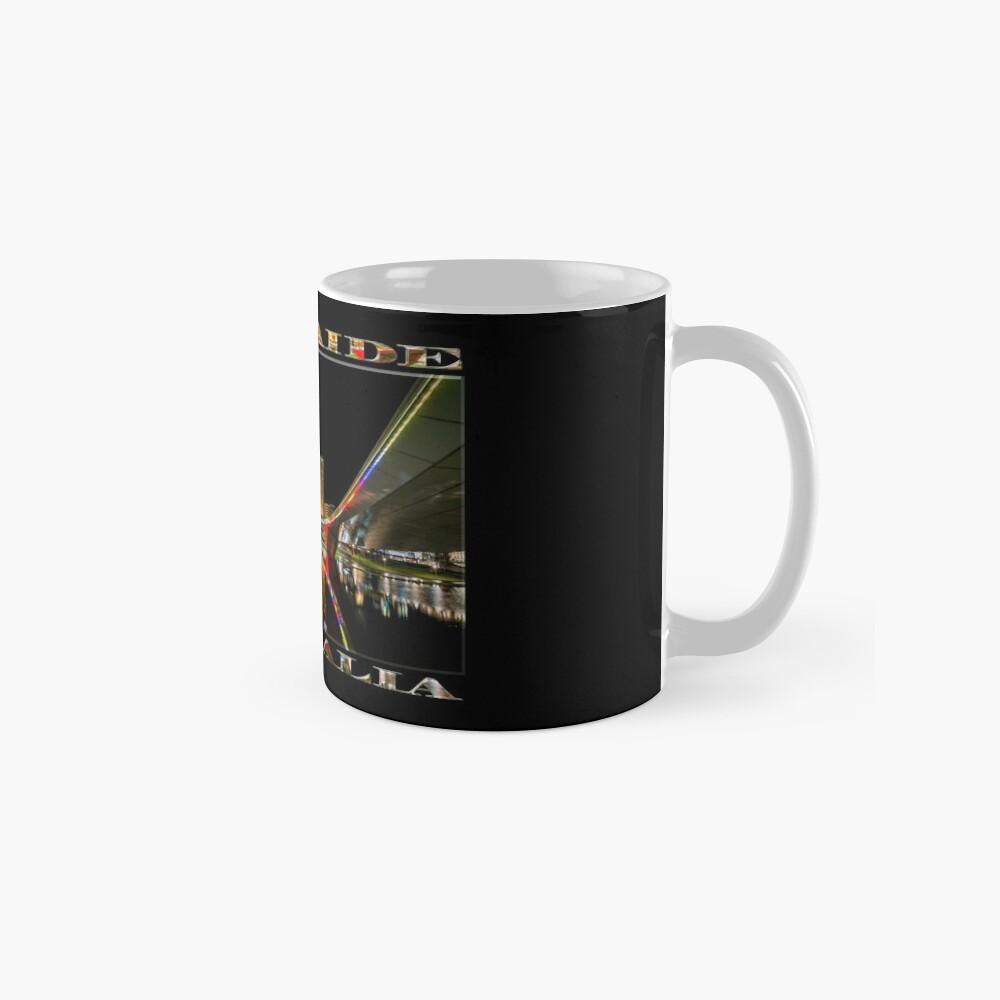 Adelaide Riverbank at Night (poster on black) Mug
