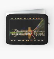 Adelaide Riverbank at Night (poster on black) Laptop Sleeve