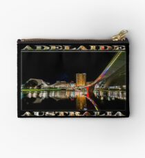 Adelaide Riverbank at Night (poster on black) Studio Pouch