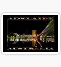 Adelaide Riverbank at Night (poster on black) Sticker