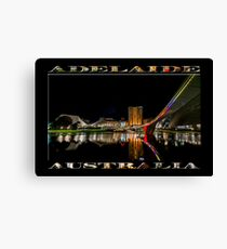 Adelaide Riverbank at Night (poster on black) Canvas Print