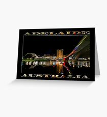 Adelaide Riverbank at Night (poster on black) Greeting Card