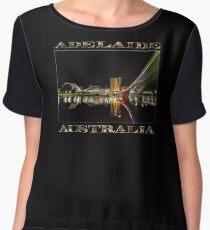 Adelaide Riverbank at Night (poster on black) Chiffon Top