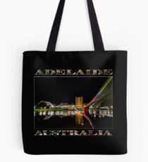 Adelaide Riverbank at Night (poster on black) Tote Bag