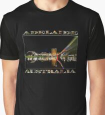 Adelaide Riverbank at Night (poster on black) Graphic T-Shirt