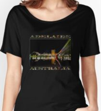 Adelaide Riverbank at Night (poster on black) Women's Relaxed Fit T-Shirt