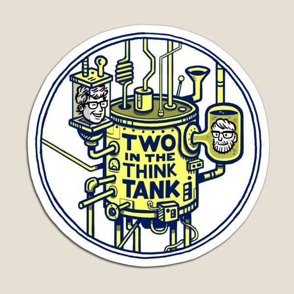 Two in the Think Tank Logo Circle Magnet