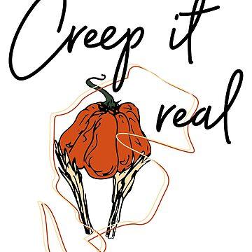 Creep it real, Halloween Tee, Creepy, Halloween Party by IvonDesign