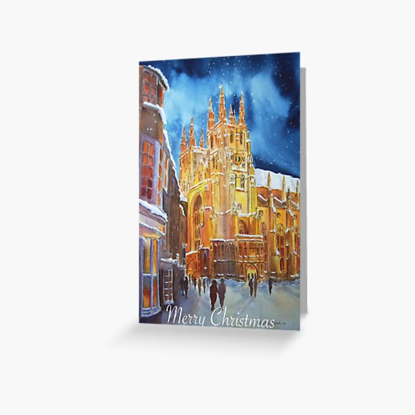 Christmas in Canterbury  Greeting Card