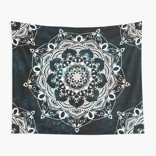 Mandala Glowing Spirit Bohemian Zen Spiritual Meditation Tapestry