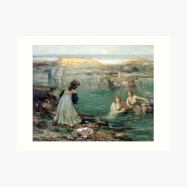 Sea Maidens - Thomas Bromley Blacklock Art Print