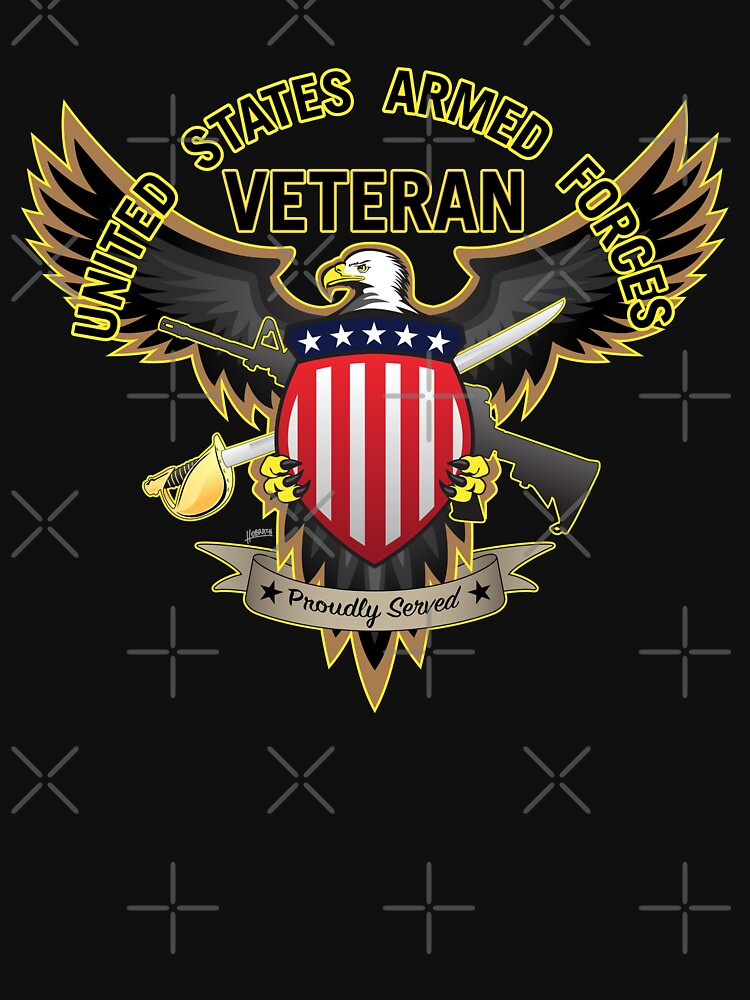 United States Armed Forces Military Veteran - Proudly Served by hobrath