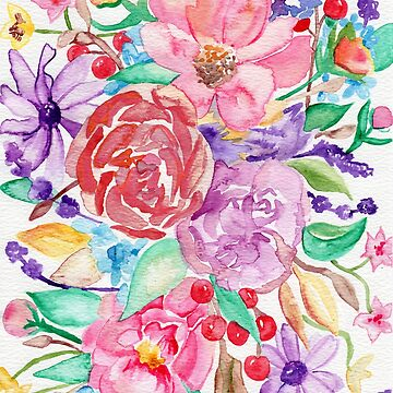 Watercolour Bouquet by Tangerine-Tane