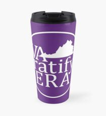 """looks blank but this is actually the """"white logo""""  Travel Mug"""