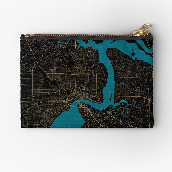 Jacksonville Map In Jaguars Colors Zipper Pouch