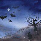 Dark night  by Emma   Reznikova