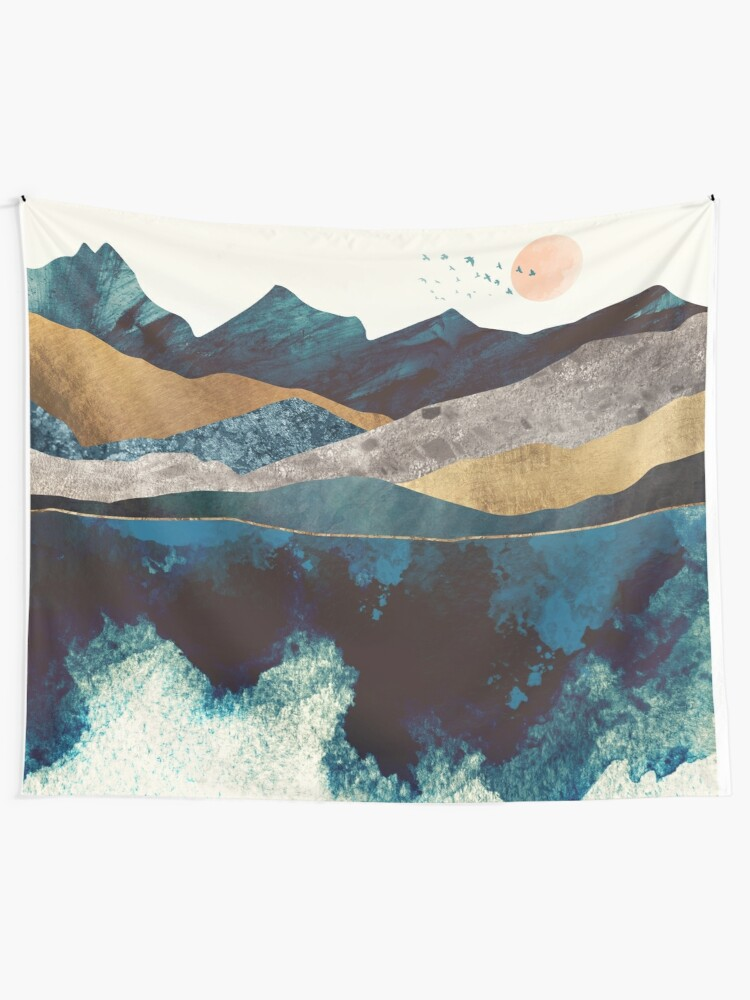 Alternate view of Blue Mountain Reflection Tapestry