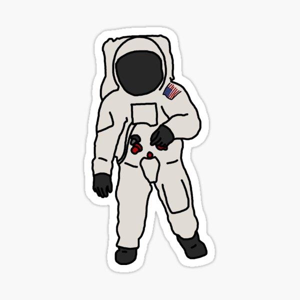 Buzz Aldrin Illustration Sticker