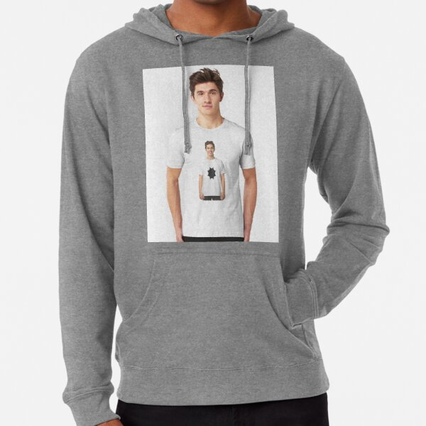 #white #t_shirt #young #isolated #portrait #shirt #casual #handsome #guy #person #model #happy #people #boy #smiling #blank #men #fashion #standing #clothing #one #smile #tshirt #studio #woman  Lightweight Hoodie