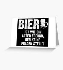 Old friend beer Greeting Card