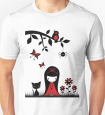 Little Red Ribbon Head T-Shirt