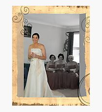 Wedding Portraits Photographic Print
