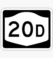 New York State Route NY 20D | United States Highway Shield Sign Sticker